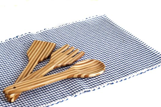 tablecloths for dining table and cutlery in bamboo