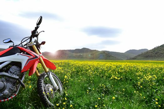 nature Explorer with motorcycle