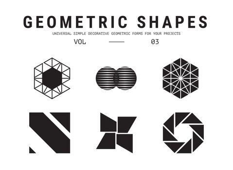 Universal geometric shapes set