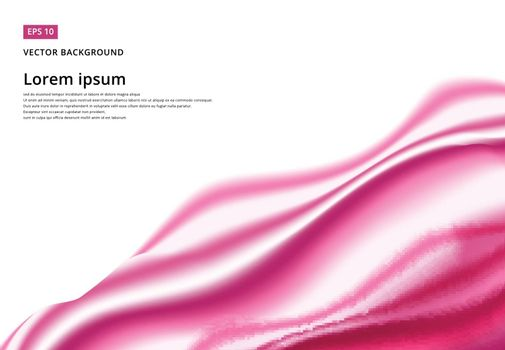 Abstract background Ligth pink curve and wave smooth with copy space, Vector illustration