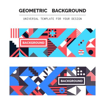 Simple Geometric Backgrounds Universal Template For Your Design