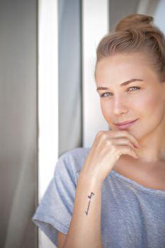 Calm woman portrait