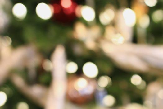 Abstract of Christmas Tree Bokeh Lights