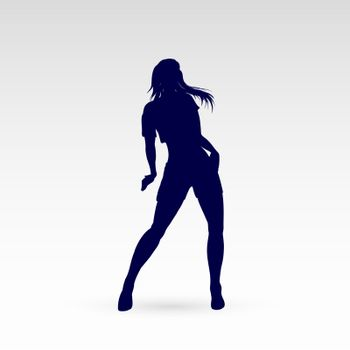 Modern Style Dancer Posing Silhouette of a Dancing Girl