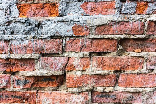 Brick wall, texture, background, summer, village, red brick