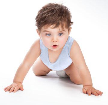 Sweet baby crawling