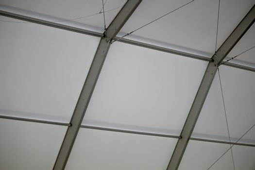The Ceiling of the Truss Structure at the Construction site