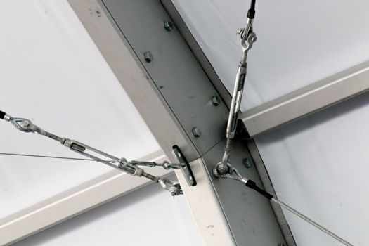 The Detail of the Truss Structure at the Construction site