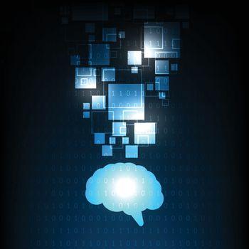 Brain image that represents intellect.