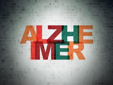 Health concept: Alzheimer on Digital Data Paper background