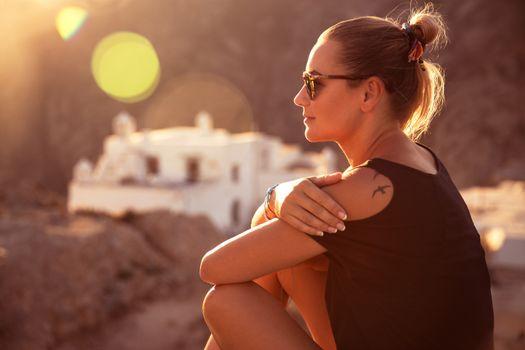 Beautiful traveler girl