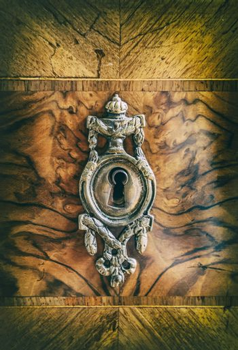 Antique metal keyhole