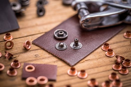 Punch tool and buckles