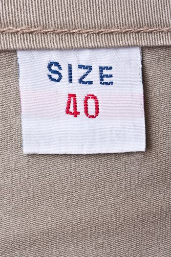 Trousers clothing label
