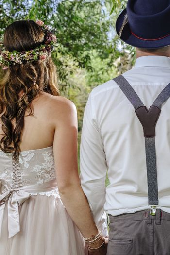 Young couple getting married