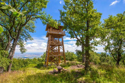 Wooden watch tower