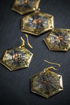 Elegant metal earrings