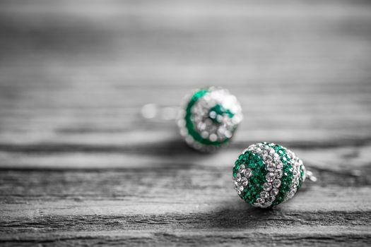 A pair of swarovski earrings