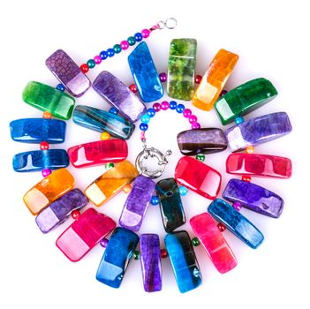 Colorful natural necklace