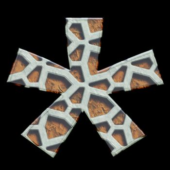 3D render of grate alphabet symbol