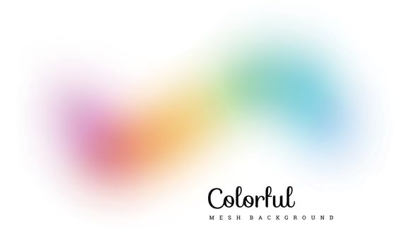 Abstract colorful mesh background. Spectrum wave. Vector illustration
