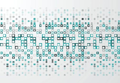 Abstract technology background with blue border squares pattern, Vector illustration