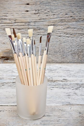 Group of paintbrushes