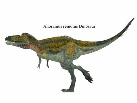 Alioramus was a carnivorous theropod dinosaur that lived in Asia in the Cretaceous Period.