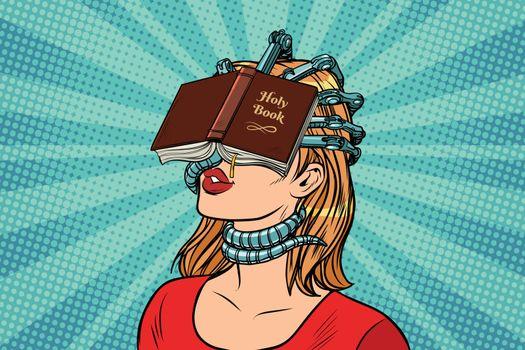 religious fanatic woman