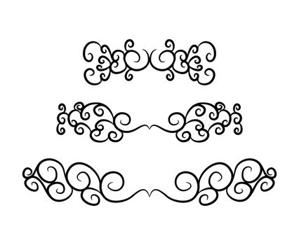 vintage footer set vector symbol icon design. Beautiful illustra