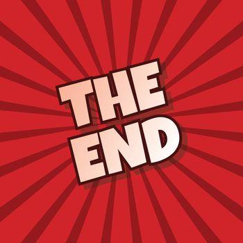 the end retro theme text vector