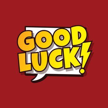 good luck greeting cartoon
