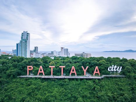 Label symbol of Pattaya in Thailand