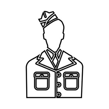 Veteran or soldier of the american army icon .