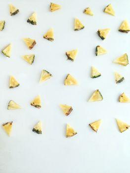 Fresh  triangular piece of pineapple