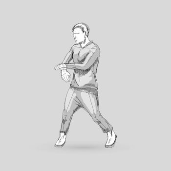 Modern Dancer Sketch of a Man Dancer Hip Hop Choreography