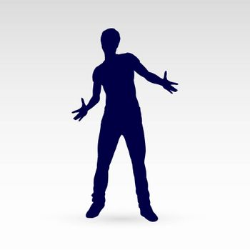 Modern Style Dancer Silhouette of a Man Dancer Hip Hop Choreography