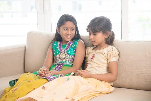 Indian children bonding at home