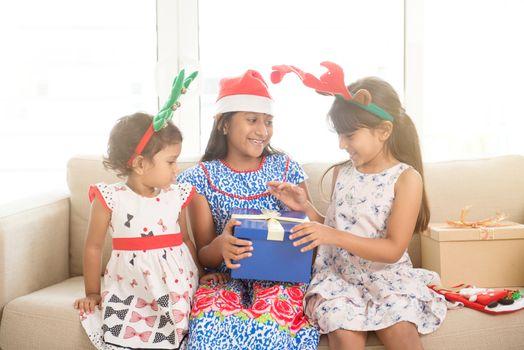 Indian family on Christmas mood