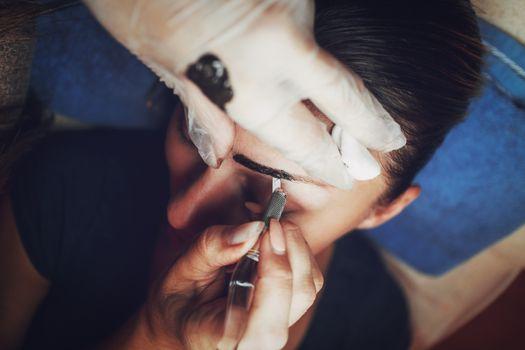 Japanese eyebrows drawing method