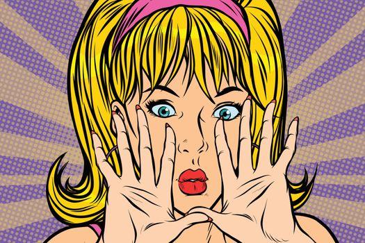 pop art blonde Pop art retro