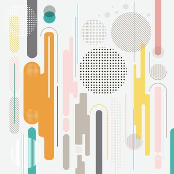 Abstract geometric dynamic element multicolor background, vector background