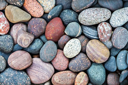 Abstract nature background with colorful pebble stones