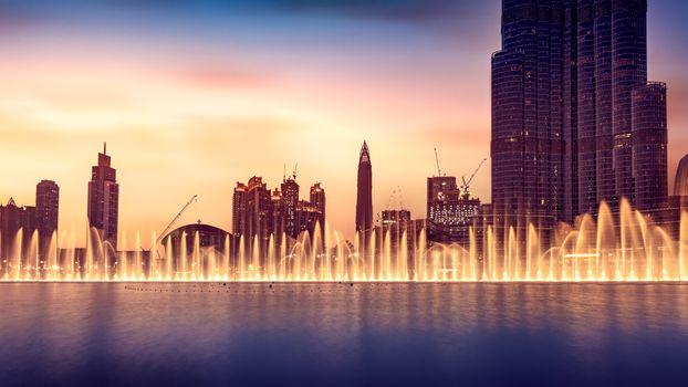 Musical fountain of Dubai