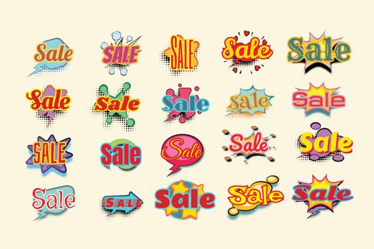 Sales background with comic bubble