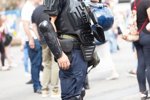 Police officer on duty. Law enforcement.