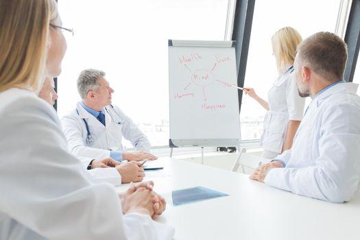 Team of doctors discuss mental health