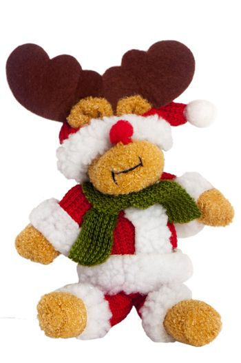 a Christmas puppets on the white background