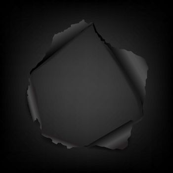 Black Paper With Torn