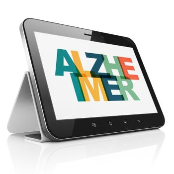 Medicine concept: Tablet Computer with Alzheimer on  display